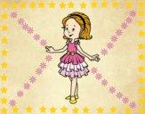 Dibujo Niña con vestido de fiesta pintado por mafer20