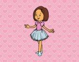 Niña con vestido de princesa