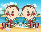 Niños gemelos