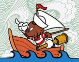 Dibujo Osito marinero pintado por superbea