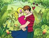 Dibujo Pareja enamorada pintado por Potte