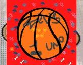 Dibujo Pelota de básquet pintado por zeus555