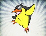 Pequeño pingüino azul