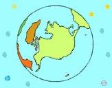 Dibujo Planeta Tierra pintado por solsticio