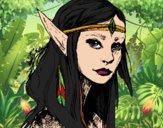 Dibujo Princesa elfo pintado por queyla