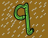 Dibujo Q minúscula pintado por eight