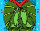 Dibujo Ranas amándose pintado por LunaLunita