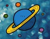 Dibujo Satélites de Saturno pintado por queyla