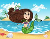 Sirena con barquito