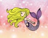 Dibujo Sirena flotando pintado por haruh