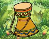 Dibujo Tambor africano pintado por queyla