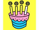 Dibujo Tarta con velas pintado por josue15