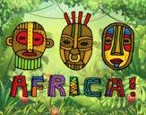 Dibujo Tribus de África pintado por queyla