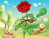 Dibujo Una rosa pintado por ginger