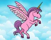 Dibujo Unicornio joven pintado por queyla