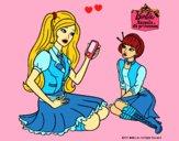 Dibujo Barbie con el teléfono móvil pintado por LunaLunita