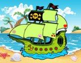 Dibujo Barco pirata pintado por LunaLunita