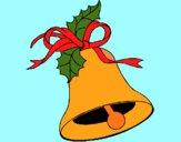 Dibujo Campana de navidad 1 pintado por LunaLunita