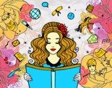 Dibujo Día del Libro pintado por monica_Jan