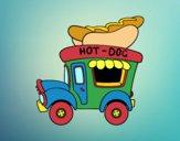 Dibujo Food truck de perritos calientes pintado por queyla