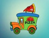 Dibujo Food truck de pizza pintado por queyla