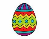 Dibujo Huevo de Pascua con estampados pintado por Valepxndx