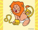 Dibujo Leo pintado por orehanita5