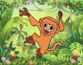 Dibujo Mono capuchino bebé pintado por LunaLunita