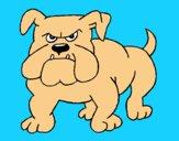 Dibujo Perro Bulldog pintado por LunaLunita