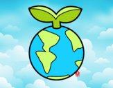 Dibujo Planeta limpio pintado por orehanita5