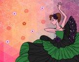 Dibujo Mujer flamenca pintado por valebtina