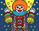 Dibujo Payaso disfrazado pintado por queyla