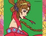 Dibujo Princesa china pintado por aracelicor