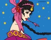 Dibujo Princesa china pintado por LunaLunita