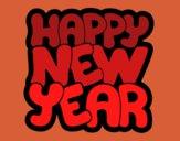 Dibujo Feliz año nuevo pintado por kjdfshiudf