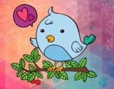 Dibujo Pájaro de Twitter pintado por ari