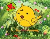 Dibujo Pájaro de Twitter pintado por LunaLunita