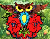 Dibujo Símbolo búho pintado por pikalu