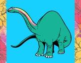 Dibujo Braquiosaurio II pintado por nevulosa