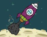 Dibujo Cohete a propulsión pintado por Geduncho