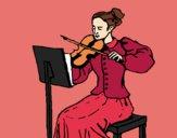 Dibujo Dama violinista pintado por kjdfshiudf