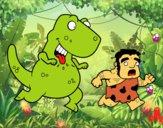 Dibujo Dinosaurio cazador pintado por kevin312