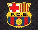 Dibujo Escudo del F.C. Barcelona pintado por tabathamc
