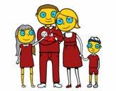 Dibujo Familia unida pintado por bautopa