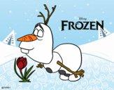 Dibujo Frozen Olaf pintado por Nayla55