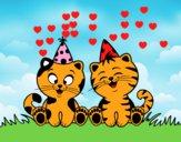 Gatos de cumpleaños