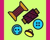Dibujo Hilos y botones pintado por Yeric12