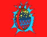 Huevo de pascua brillante