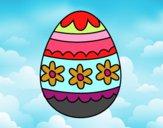 Huevo de Pascua floral