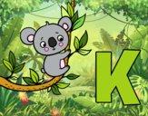 Dibujo K de Koala pintado por Volcanica